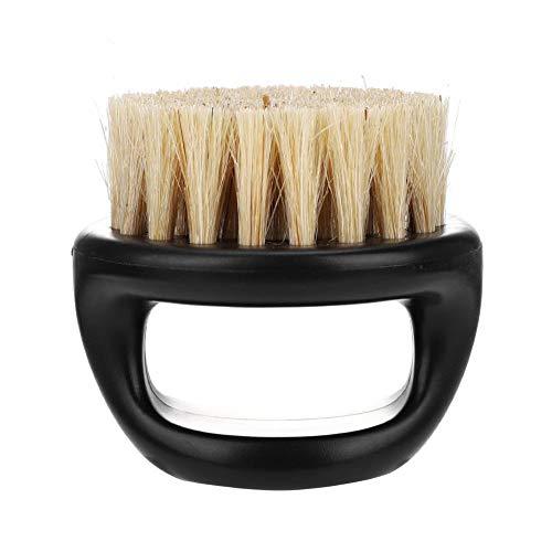 Preisvergleich Produktbild Yinroom Bartbürste für Männer-Wildschwein Pelz Rasierpinsel für Männer Bart Schnurrbart Trimmen Pinsel Salon Rasiert Werkzeug (Color : 01 White Brush Hair+Black Handle)