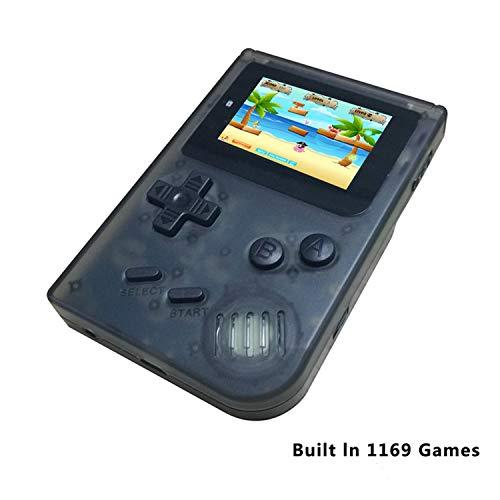 Anbernic Handheld Spielekonsolen, Retro Game Console Video spielkonsole Player Console 2.0 Zoll Spielkonsole mit 548 Classic Games für Kinder Geschenk (Transparentes Schwarz) (Elektronische Karte Spiele Handheld)