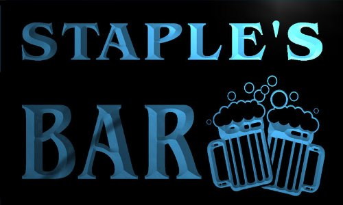 w035663-b-staple-name-home-bar-pub-beer-mugs-cheers-neon-light-sign-barlicht-neonlicht-lichtwerbung