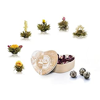 Erblhtee-Teeblumen-in-Holzschachtel-Herzform-6-Sorten-aus-weier-Tee-von-Creano