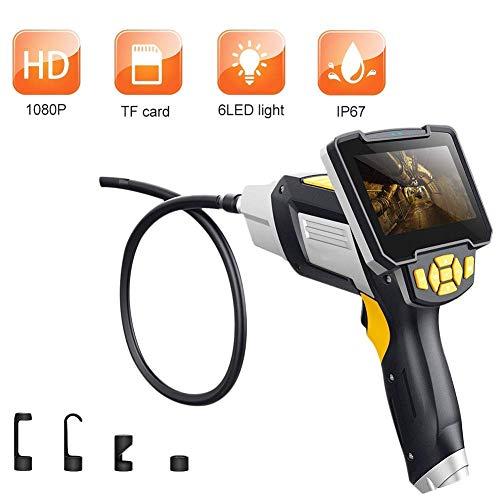 Endoscope Digitales Industrie-Endoskop 4,3-Zoll-LCD-Endoskop-Videoskop mit CMOS-Sensor-halbsteifem Inspektionskamera-Handendoskop,5m -