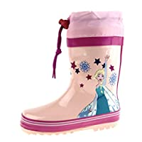 Disney Frozen Girls Tie Top Wellington Boots