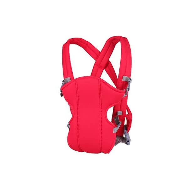 Kasstino Infant Front Facing Slings Breathable Pouch Wraps Carriers Backpacks Suspenders (Red) Kasstino A great way to carrying baby, keep kids close and safe at hands, in crowds, or during family outings Double layer at the bottom of the pad design more take care of the baby small buns Portable, breathable, folding, really practical. Easy to put on and take off 1