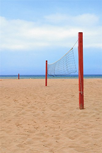 Computer ausgedruckt Fotografie Hintergrund, 98,4 IN (W) * 59 IN (H) Beach-Volleyball 1.5 * 2m