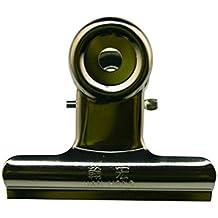 Aktenklammer, Metall, 4,1 cm Breite, 1 cm Fassungsvermögen, silberfarben, 12 Stück