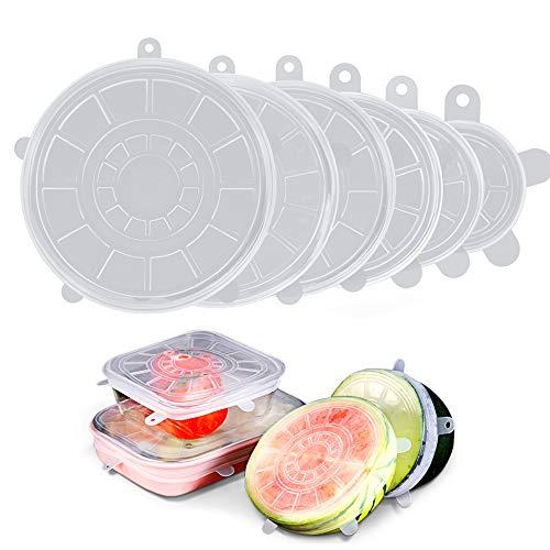 Obst T/öpfe Becher Tassen 6 St/ück Silikondeckel Dehnbare Frischhalte Deckel Verschiedenen Gr/ö/ßen Silikon deckel Set f/ür Gem/üse