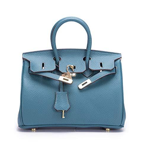 schulter diagonale frauen tasche 3D tasche Aus handtaschen arbeitspaket abendtasche Mamabeutel(Peacock blue 1, 25 * 19 * 14cm) -