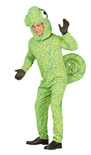 Guirca-Kostüm Erwachsene Chamäleon, Größe - Für Erwachsenen Eidechse Kostüm
