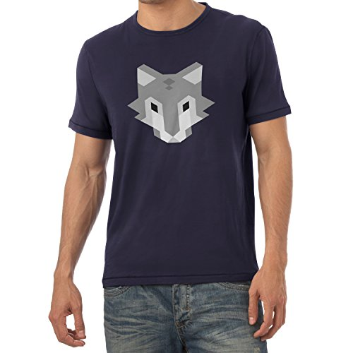 TEXLAB - Simple Wolf - Herren T-Shirt Navy