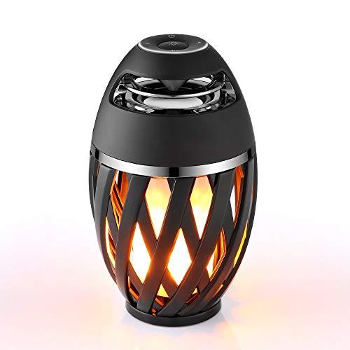 TXOTN LED Flamme Lampe Bluetooth Lautsprecher,Atmosphäre Nachttischlampe IP65 wasserdichtes Licht Tanz Lampe Hallowen Beleuchtung für Zimmer Arbeit Garten Party im Freien Fest Dekoration