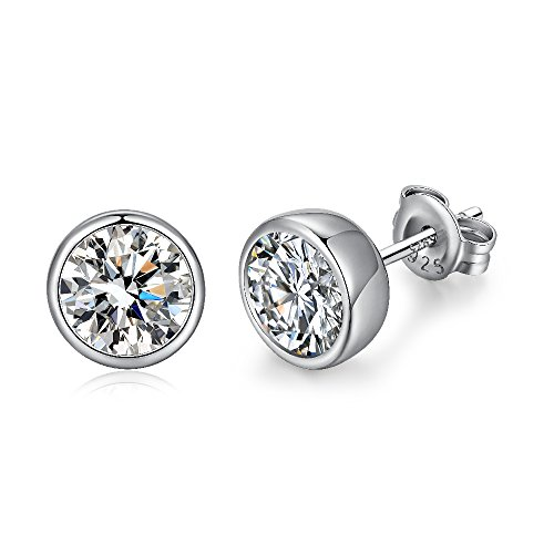 ringe für damen 925 silber ohrstecker frauen ohrringe luxus glänzende ohrringe schmuck geschenk Zirkonia-Ohrringe ()