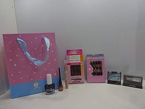Black Friday vente ~ 10pc Maquillage, Parfum, cils et ongles Bouquet Panier cadeau pour elle ~ Mix marques