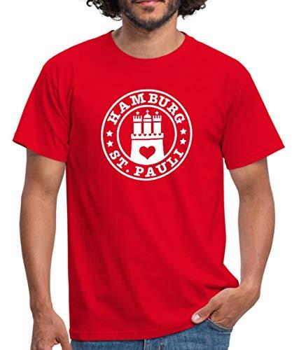 Spreadshirt Hamburg Sankt Pauli Männer T-Shirt, L, Rot