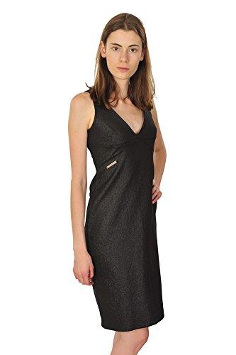 Versace Kleid Damen Schwarz Twill Baumwolle 44 IT