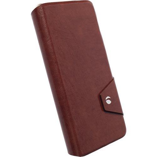 Krusell Kalmar Flip Tasche mit Kreditkartenfach für Apple iPhone 6 und 6s plus in braun Braun