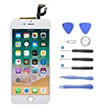Yokimico Écran Tactile pour iPhone 6 LCD Display Écran de Remplacement Écran LCD Retina Tout Assemblé Complet sur Chassis pour iPhone 6 avec Outils de Réparation Blanc