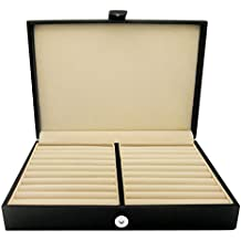 Honey Bear Hombre/Mujer Estuche Organizador para Exhibir / Guardar Joyería. anillos y mancuernas caja,joyero,cuero de imitación