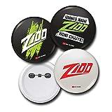 #2: Zidd Pin Badges (Set of 3)