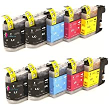 Bramacartuchos - 10 x Cartuchos compatibles para Brother Lc 121 Lc 123 XL ALTA CAPACIDAD LC123 con Brother DCP J132w, DCP J152W, DCP J552DW, DCP J752DW, DCP J4110dw, MFC J470DW, MFC J650DW, MFC J870DW, MFC J4410dw, MFC J4510dw, MFC J4610dw, MFC-J4710dw, MFC J6520, MFC J6720dw, MFC J6920DW - Lc123 -