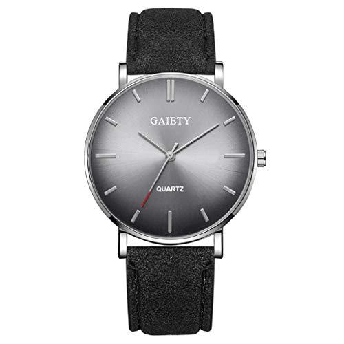Analog Quarz ultradünn Classic Minimalistisches Design Armbanduhr für Herren, Skxinn Herrenuhren,Männer Business Fashion Einfach Armbanduhren mit Kunstlederband, Ausverkauf(G) -