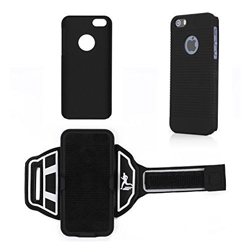 iProtect Sportarmband Apple iPhone 6, 6s (4,7 Zoll) Running Case Laufarmband drehbar in schwarz Sportarmband Handgelenk drehbar