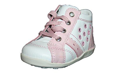 Juge 0922 351 0101 enfants chaussures montantes fille blanc/rose (blanc) Blanc - Weiß (Weiß/pink)