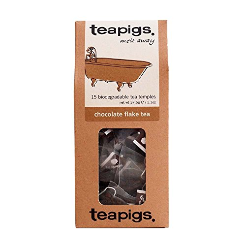 Teapigs chocolate flake tea (black tea) (15 bags) (a sweet tea cocoa flavoured) (brews in 3 minutes)