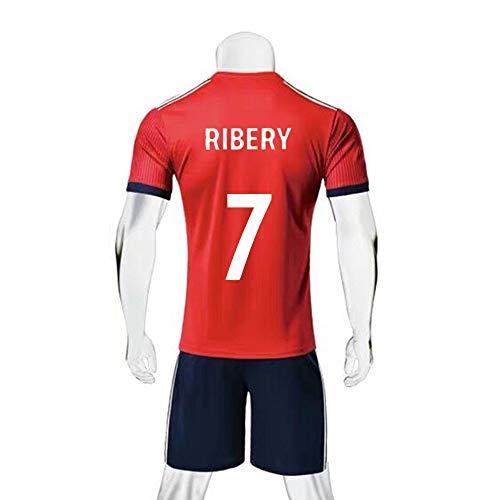 LDFN Franck Ribéry # 7 Männer Fußball Jersey - Short Sleeve Sports Jersey T-Shirt Fan-Hemd (Color : Blue, Size : L)