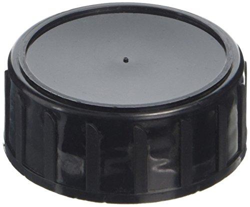 DUTSCHER 063484 Deckel aus Polypropylen für 250 ml Flachmann, mit PE-Schaumdichtung, schwarz