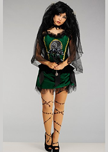 Ladies Halloween Deluxe Braut von Frankenstein Kostüm M (UK 10-12)