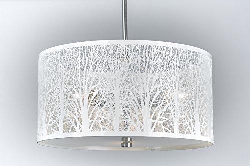 Hängelampe | Hängeleuchte | Lampe | Natur | Deckenlampe 40cm Weiß | Wald | Lounge | Wohnzimmer |...
