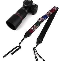 Brain Freezer Strap Belt Compatible with Camera Panasonic Sony Canon   Shoulder Neck Stripe   Cotton Multicolor (208)