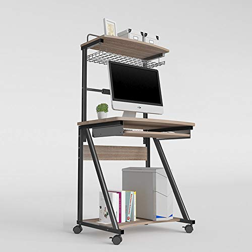 YueQiSong Multi-Funktions-Tisch Computer Schreibtisch Schreibtisch mit Hutch Modern Style Workstation Schreibtisch, b, mit Tastaturunterstützung (Moderne Mit Schreibtisch Hutch)