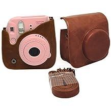 Gearmax® Bolsa de Funda Protectora Para Fujifilm Instax Mini 8 (Cuero Sintético PU)(Marrón)
