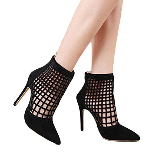 Yanhoo- Scarpe Donna,Sandali Donna, Nuovi sandali con tacco alto da donna Sexy Stivali corti neri...