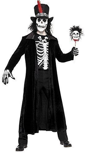 Herren Voodoo Master Evil Death Schädel Halloween Horror Black Magic Kostüm Kleid - Voodoo Nights Halloween Horror