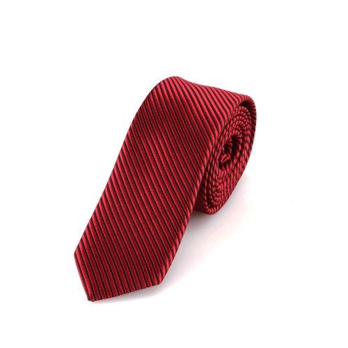 Schmale rote Krawatte mit schwarzen Streifen - von Hand gefertigt // verschiedene Farben wählbar (Streifen Krawatte Schwarzer Krawatte)