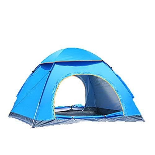 J.SPG Carpa Completamente automática, Carpa automática Plegable Ultra Ligera para Acampar al Aire Libre 2 Personas Sola Capa Tienda de Tela Oxford Impermeable Picnic Montando Montañismo La Pesca,Blue