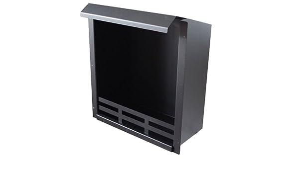 Brennkammer Schwarz Stahl 48,5x41x23 cm Kamin Gelkamin Ethanol Kamin Brenngel