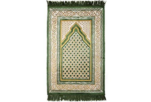 Gebetsteppich | Grün | 67 x 115 cm | traditionell | schlicht