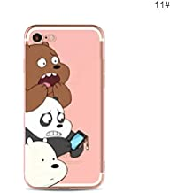 Desconocido Funda de Gel para iPhone 7, iPhone 8 Osos We Bare Bears Carcasa iPhone