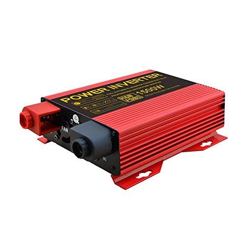 BQ Convertisseur @ Power Inverter DC 12V à 220V AC Convertisseur de voiture PV solaire avec adaptateur allume-cigare 1500W (Rouge)