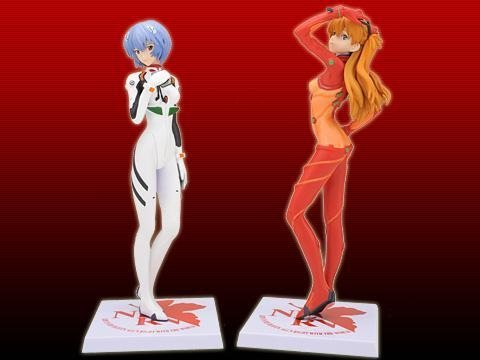 SEGA Rebuild of Evangelion Premium Figure Vol.2 all two full sets [Ayanami Rei & test suit wearing Asuka] (japan import)