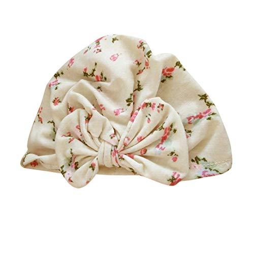 SANFASHION Baby Mütze Neugeborene Weich Baumwolle Elastische Stretch Turban Kleinkind Stirnbänder Mädchen Knoten Stirnband Kappe (B)