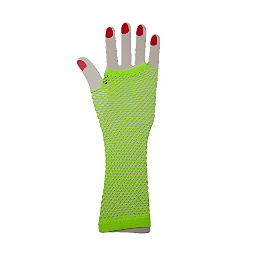 Long, Neon Fishnet Gloves - choice of colours - for Madonna 80s and punk costume