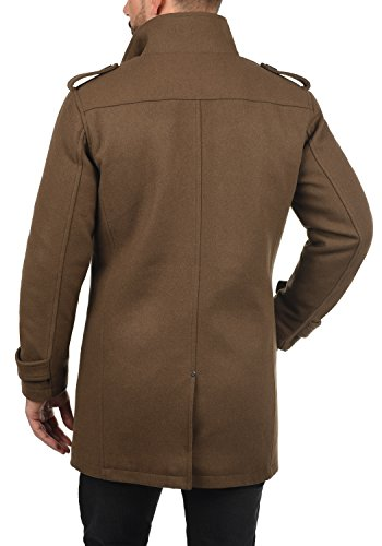 Blend Warren Herren Winter Mantel Wollmantel Lange Winterjacke mit Stehkragen, Größe:L, Farbe:Camel Brown (71517) - 4