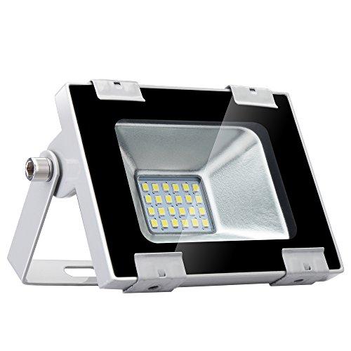 LED-Flutlicht 20W, 6000-6500k kaltes Weiß, ultradünne wasserdichte 1600lm Sicherheit IP67 beleuchtet im Freien Landschaft für Swimmingpool, Hinterhof, Architekturnachtbeleuchtung, Plattform
