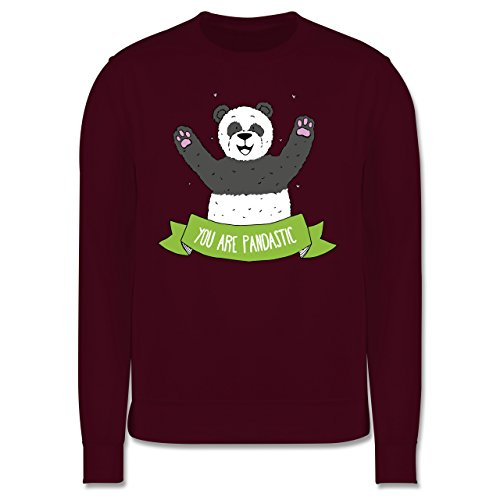 Statement Shirts - Panda You are pandastic - Herren Premium Pullover Burgundrot