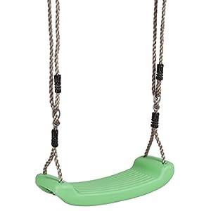 Ultrakidz básico - Asiento de columpio  de plástico resistente a la intemperie, columpio infantil, tabla de columpio robusta con cuerda, Verde manzana