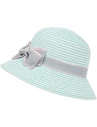 Anmain Bambino Arco Cappelli Ragazza Cappello Di Paglia Cappello Da Sole  Protezione Solare Cappello Sole Tinta 14a094af539c